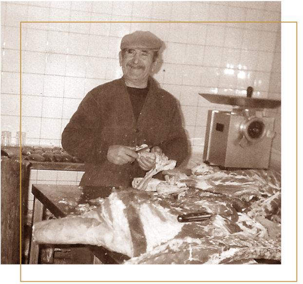 El padre de Honorio Fuertes en una imagen de sus inicios